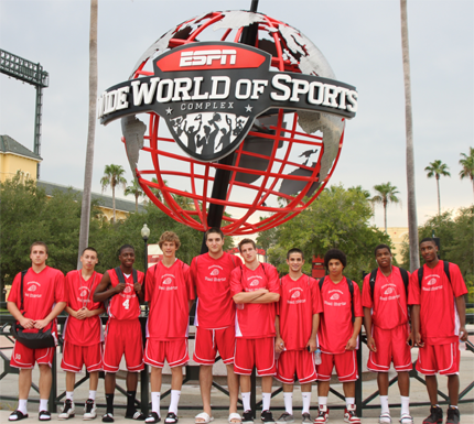The Arizona Red Shirts play at AAU Nationals at the ESPN Wide World of Sports complex in front of college recruiters